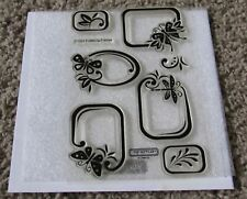 New Close to My Heart C1224 Fluttering Frames Stamp Set Ctmh