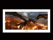 Smaug Over Lake-Town Art Print Poster Weta Lord of the Rings / Hobbit Lotr