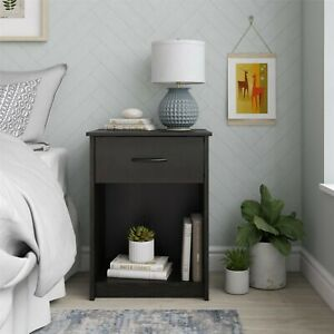 Black Oak Wood Luxury Night Stand Dresser For Bedroom And More