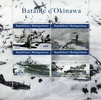 Madagascar Military Stamps 2020 MNH WWII WW2 Battle of Okinawa Aviation 4v M/S