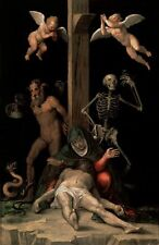 Jesus Christ Allegory of The Redemption Crucifixion Angels  7x4 Inch Print 87
