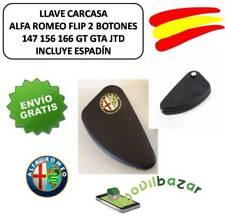 LLAVE FUNDA CARCASA ALFA ROMEO 147 156 166 GT GTA JTD FLIP 2 BOTONES.ESPAÑA