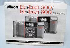 Nikon Tele-Touch 300/300 Quartz Date instruction manual