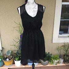 Bebop Ladies Small Black Dress Gold Sparkles Dressy Nightout Elastic Waistband