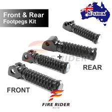 Foot Pegs CNC Front Rear Set 2 Pair Black Fit Triumph Bonneville T100 Carb 02-05