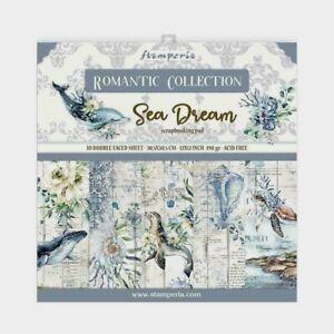 "Stamperia Romantic Collection Scrapbooking Paper Pad 12"" X 12"" Sea Dream New"