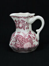 "Masons Ironstone Red Transfer Fruit Basket Mulberry Pitcher 4 1/2"" England"