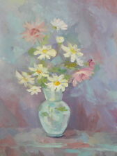 Still life with flowers oil painting impressionism signed