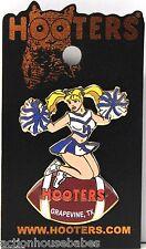 Sexy HOOTERS Girl Cheerleader Football GRAPEVINE, TX Lapel Pin - NEW