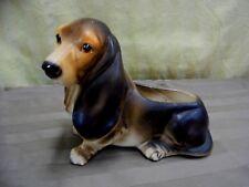INARCO Hand Painted Pottery Dachshund - Basset Hound Puppy Dog Head Vase E-3178