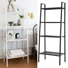 Ladder Shelf 4/5 Tier Metal Bookshelf Display Rack Plant Stand Storage Holder UK