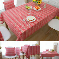 Rectangle Tablecloth Christmas Home Table Covers Decor Party Dinner Table Cloth