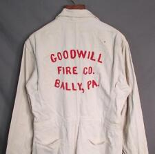 Vintage 1950s Topps Firefighters White HBT Coveralls Goodwill Fire Co. Bally,PA