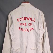 Vintage 1950s Topps Firefighters White Hbt Coveralls Goodwill Fire Co. Bally,Pa.
