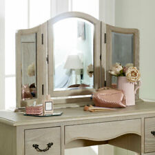 French dressing table vanity mirror shabby chic vintage bedroom adjustable tilt