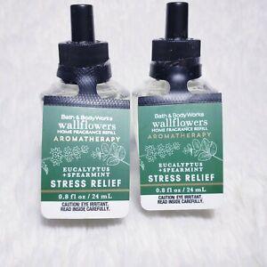 2 Bath & Body Works AROMATHERAPY STRESS RELIEF Wallflower Refill Bulbs New