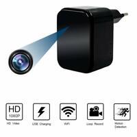 Cargador con Cámara Espia Oculta WiFi  USB 1080P HD.Detección de Movimiento