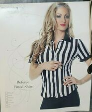 Underwraps Referee Women's Black White Halloween Costume Referee Shirt Size XL