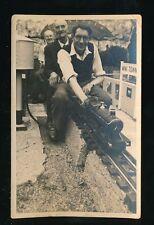 MINIATURE RAILWAY steam loco Engine Driver Passengers Mini Town c1950/60s? photo