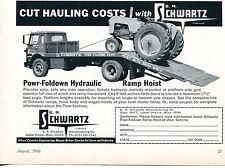 1966 Dealer Print Ad of ER Schwartz Powr-Foldown Truck Ramp Tractor Hoist