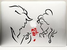 """Beauty and the Beast and the Red Rose car truck SUV decal sticker 8"""" Red/Black"""