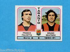 PANINI CALCIATORI 1980/81-Figurina n.509- FALCETTA+BEATRICE - TARANTO -Rec