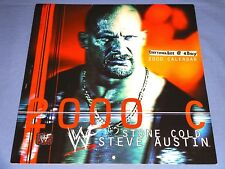 Stone Cold Steve Austin 2000 Calendar WWF WWE WCW ECW Vince McMahon Owen Hart