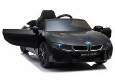 Kinder Elektro Auto BMW I8 schwarz, EVA, Ledersitz, LED etc.! Neu & Ovp!!