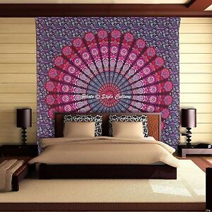Indian Mandala Bed Linen Bed Sheet Bohemian Double Size Tapestry Hippie Bedding