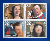 Sc # 3154-3157 (3157a) ~ Block of 4 ~ 32 cent Opera Singers Issue (bc27)