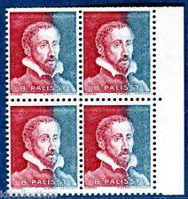 Vignette expérimentale Palissy bicolore pa27 rouge et bleu en bloc de 4 cote:320