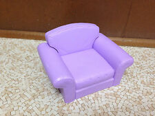 2002 Barbie Doll Decor Collection House Couch Purple Chair Living Room Furniture