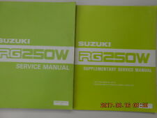 suzuki  rg250w. . service manual + supplementary . rg 250 w .