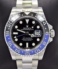 Rolex GMT-MASTER II 116710 BLNR BATMAN Black/Blue Ceramic Bezel MINT NO RESERVE!