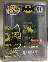 Funko Pop! Batman 01 Art Series Black & Yellow Target Exclusive In Hand!