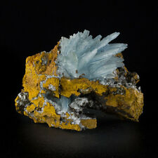 """3.9"""" Sky Blue BARITE Sharp Glassy Terminated Crystals on Matrix Morocco for sale"""