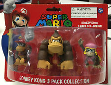 Nintendo SUPER MARIO MINI FIGURA PACK Donkey Kong Diddy Kong Dixie Kong