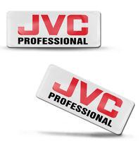 2 x 3D Silikon Aufkleber JVC Professional UHD TV Kamera Logo Emblem Abzeichen