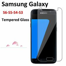 Tempered Glass Screen Protector For Samsung Galaxy S6 S5 S4 S3 - A7 A3 15 -A5 17