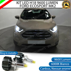 KIT LED H18 9600 LUMEN FORD ECOSPORT MK2 CANBUS 6000K BIANCO GHIACCIO