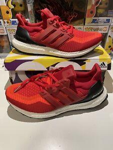 Adidas UltraBoost 2.0 Running Shoes Solar Red AQ4006 Men US 10 New