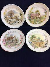 "Royal Albert Cottage Garden Year Series Set 4 Collectable 8"" Plates 1984 Vintage"