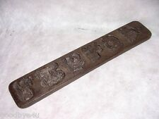 Antique Hand Carved Wooden Maple Sugar Candy Mold Primitive Folk Art Dutch? 21""