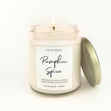 Pumpkin Spice soy candle, Cosy, Hygge Autumn, Fall natural scented candle gift