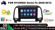 "9"" Android 8.0 Car Stereo DVD GPS Player Navi Hyundai Santa FE 2006-2012 Wi-Fi"