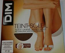 Media panty dedos libres DIM 17D Invisible, resistente tono natural y bronceado