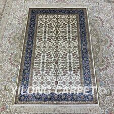 YILONG 2.5'x4' Traditional Handknotted Silk Carpet Floor Decor Area Rug H172B