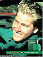 PUBLICITE ADVERTISING 036  1989  Acqua di Selva  eau de Colgne homme