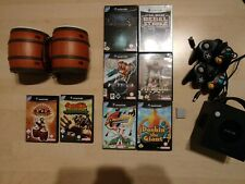 Nintendo GameCube Konsole BUNDLE + 8 Games + 2 Controller + MC + Donkey Konga