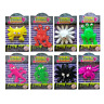 6 Sticky Slime Creature 5-6cm Kids Party Bag Fillers Xmas Stocking Toy Prize
